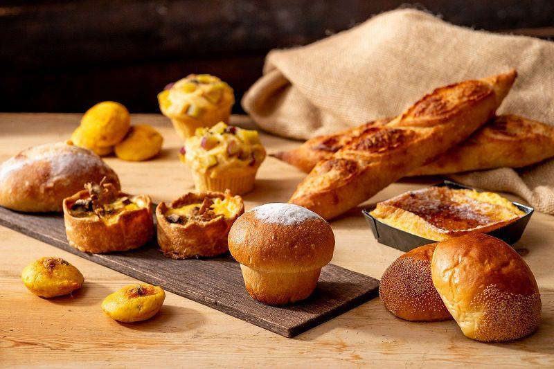 新しい秋のパン